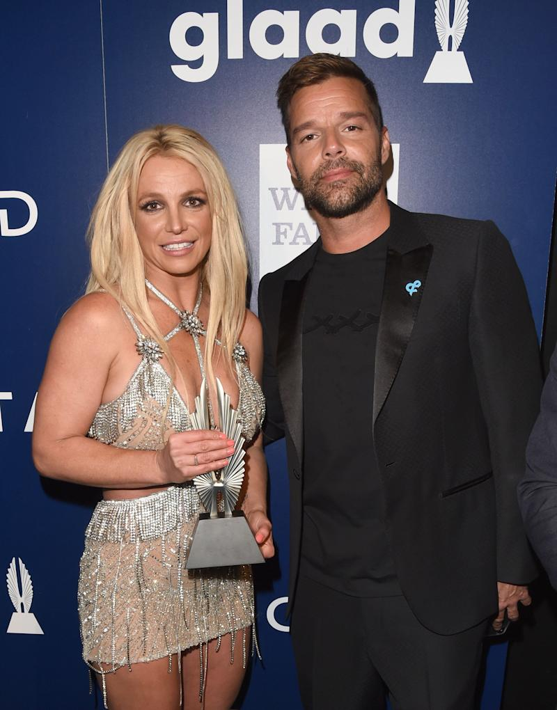 Britney Spears and Ricky Martin
