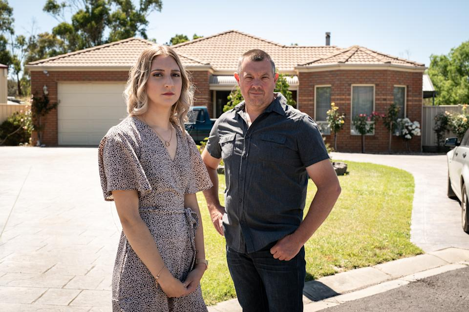 Bianca Unwin and her father, Boyd Unwin, have taken part in SBS's three-part documentary on Australia's domestic violence crisis, See What You Made Me Do. Photo: Jackson Finter (supplied).