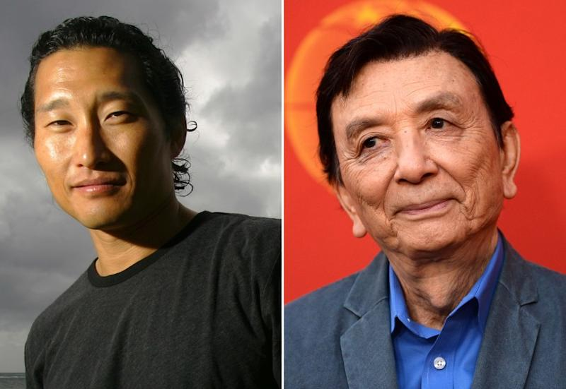 """Left; actor Daniel Dae Kim is photographed in Honolulu, Monday, Jan. 9, 2006. Right; actor James Hong arrives at the opening night of """"The Great Leap"""" at The Pasadena Playhouse on November 10, 2019 in Pasadena"""