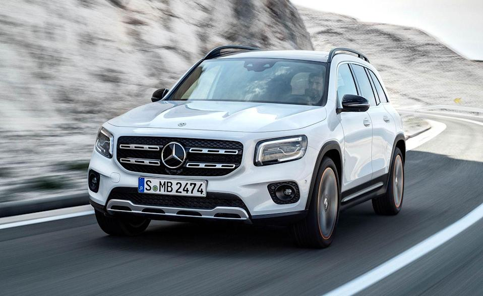 """<p>The <a href=""""https://www.caranddriver.com/mercedes-benz/glb-class"""" rel=""""nofollow noopener"""" target=""""_blank"""" data-ylk=""""slk:Mercedes-Benz GLB-class"""" class=""""link rapid-noclick-resp"""">Mercedes-Benz GLB-class</a> is the only one in the segment with an available third row—albeit one that's advertised for only """"occasional use."""" There's only one trim level for the GLB, but if the standard front-wheel drive isn't enough for you, all-wheel drive is available for an extra $2000. It has solid driving dynamics, comfy seats, and its longer roof makes it more practical than other options. The five-passenger two-row GLB matches the larger GLC for rear cargo space behind the second row. Every GLB is powered by a 221-hp turbocharged inline-four with an eight-speed dual-clutch automatic transmission. There's also a <a href=""""https://www.caranddriver.com/mercedes-amg/glb35"""" rel=""""nofollow noopener"""" target=""""_blank"""" data-ylk=""""slk:302-hp AMG version"""" class=""""link rapid-noclick-resp"""">302-hp AMG version</a> that starts at $50,550.</p><ul><li>Base price: $39,100</li><li>EPA Fuel Economy combined/city/highway: 26/23/31 mpg</li><li>Rear cargo space behind second row: 27 (two row) 24 (three row) cubic feet</li><li>Rear cargo space behind third row: 5 cubic feet</li></ul><p><a class=""""link rapid-noclick-resp"""" href=""""https://www.caranddriver.com/mercedes-benz/glb-class"""" rel=""""nofollow noopener"""" target=""""_blank"""" data-ylk=""""slk:MORE GLB-CLASS SPECS"""">MORE GLB-CLASS SPECS</a></p>"""
