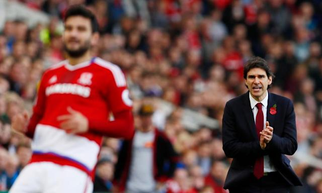 "<span class=""element-image__caption"">Aitor Karanka liked to micro-manage his Middlesbrough players but some became frustrated by his approach to games.</span> <span class=""element-image__credit"">Photograph: Jason Cairnduff/Reuters</span>"