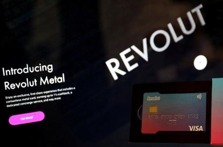 FILE PHOTO: An illustration picture shows a Revolut bank card