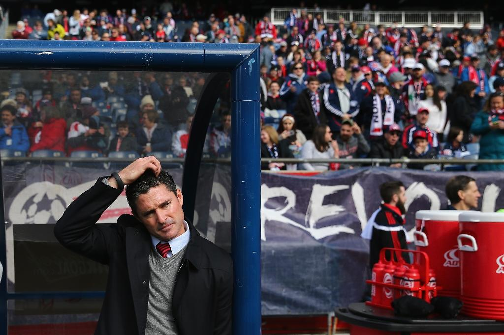 Jay Heaps, who took over as head coach of the New England Revolution in 2011 before leading the franchise to the MLS Cup final three years later, has overseen a slump in fortunes this season (AFP Photo/Maddie Meyer)
