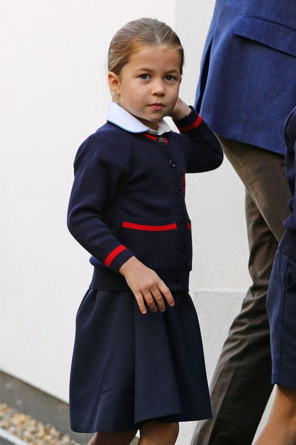 <p>Princess Charlotte looks so adorable in her uniform!</p>