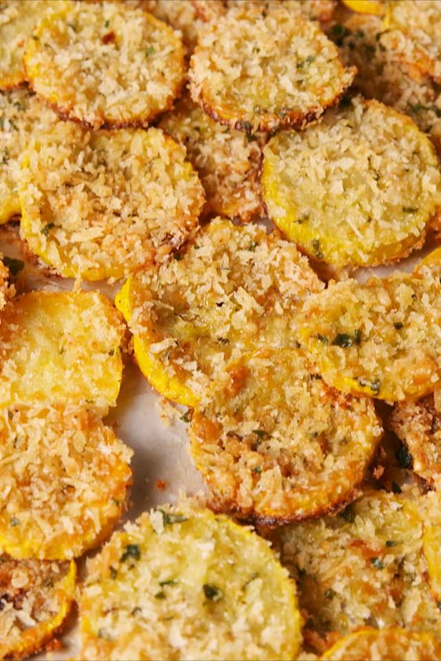 """<p>Snack on.</p><p>Get the recipe from <a rel=""""nofollow"""" href=""""https://www.delish.com/cooking/recipe-ideas/a19809582/parmesan-squash-chips-recipe/"""">Delish</a>.</p><p><a rel=""""nofollow"""" href=""""https://www.amazon.com/Nordic-Ware-Natural-Aluminum-Commercial/dp/B00MYXCVUI?tag=delish_auto-append-20&ascsubtag=[artid