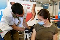 Israeli military medics were among those getting vaccinated against coronavirus