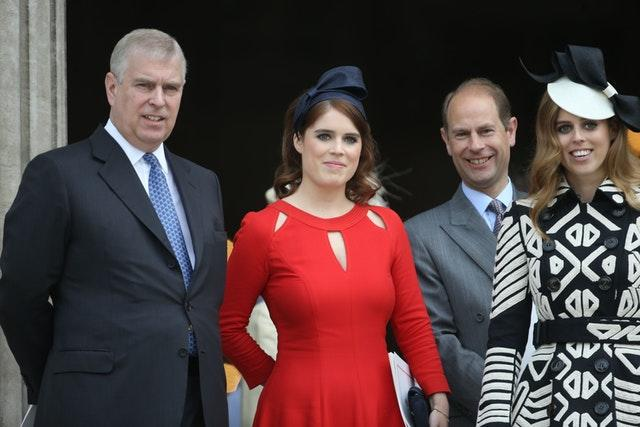 Andrew, Eugenie, Edward and Beatrice