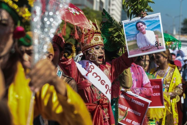 Myanmar's traditional spirit mediums have joined the protests against the military coup