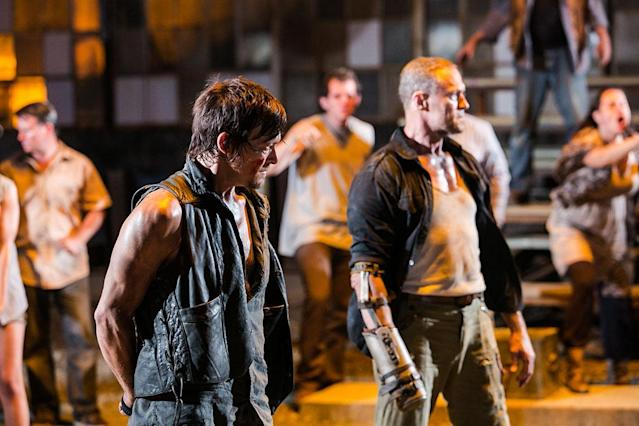 "Daryl Dixon (Norman Reedus) and Merle Dixon (Michael Rooker) in ""The Walking Dead"" episode, ""The Suicide King."""