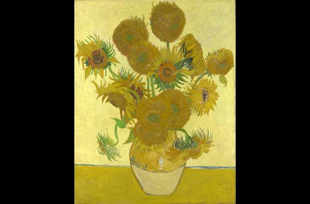"""Vase with Fifteen Sunflowers"" by Vincent van Gogh, $39.7 million."