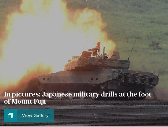 In pictures: Japanese military might on display at the foot of Mount Fuji