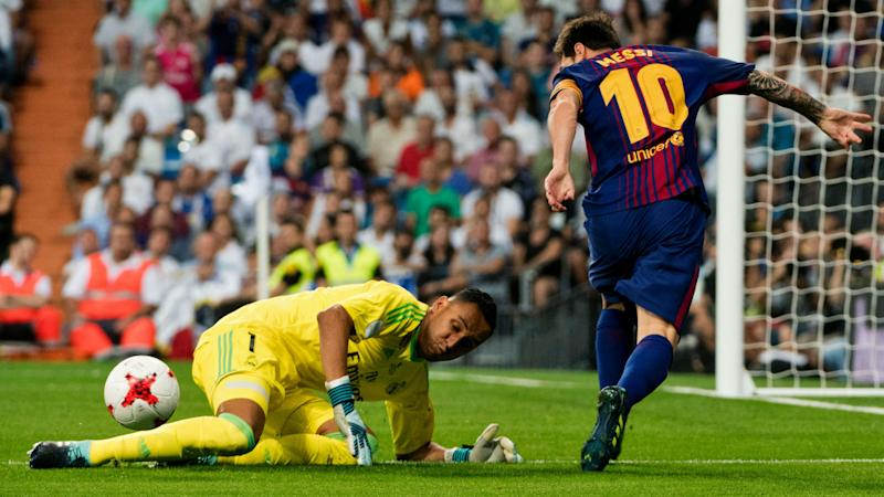 real barcelona - lionel messi keylor navas - spain supercup - 2017