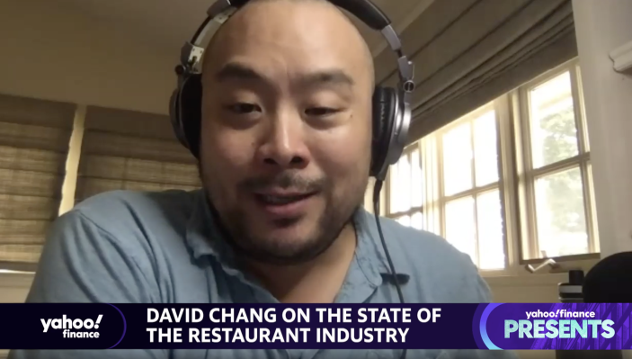 """Chef and restauranteur David Chang appears on """"Yahoo Finance Presents"""" with Yahoo Finance Editor-in-Chief Andy Serwer."""