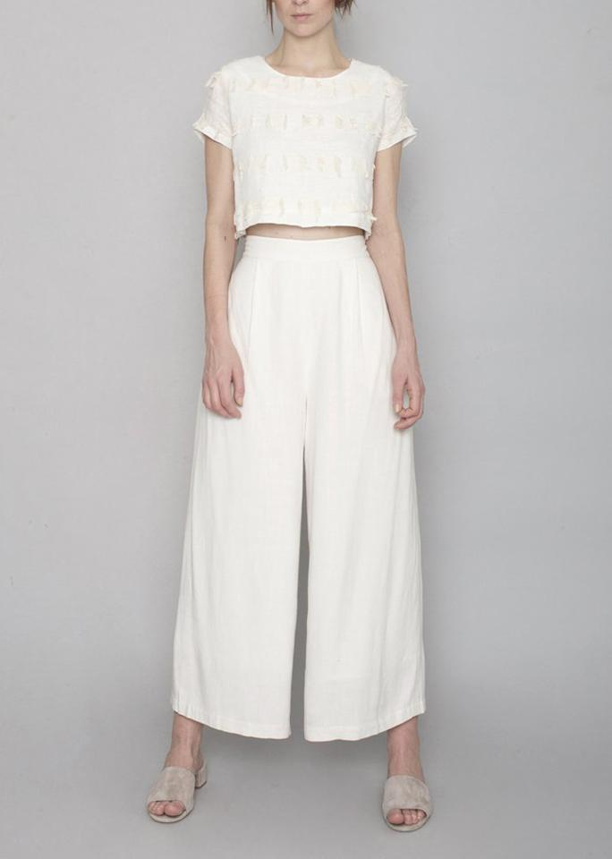 "7115 by Szeki Spring Wide-Legged Trouser, $178; at <a rel=""nofollow"" href=""https://7115newyork.com/collections/new-arrivals/products/spring-wide-legged-trouser-off-white-ss17"" rel="""">7115 by Szeki</a>"