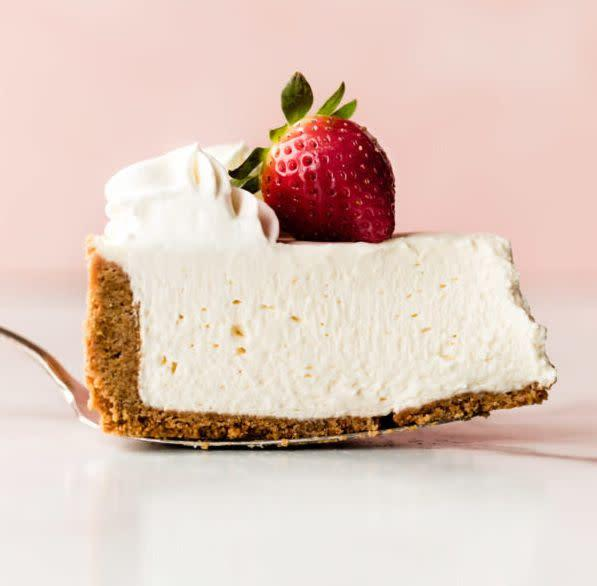 "<a href=""https://sallysbakingaddiction.com/no-bake-cheesecake/"" rel=""nofollow noopener"" target=""_blank"" data-ylk=""slk:Get the Perfect No-Bake Cheesecake recipe from Sally's Baking Addiction"" class=""link rapid-noclick-resp""><strong>Get the Perfect No-Bake Cheesecake recipe from Sally's Baking Addiction</strong></a>"