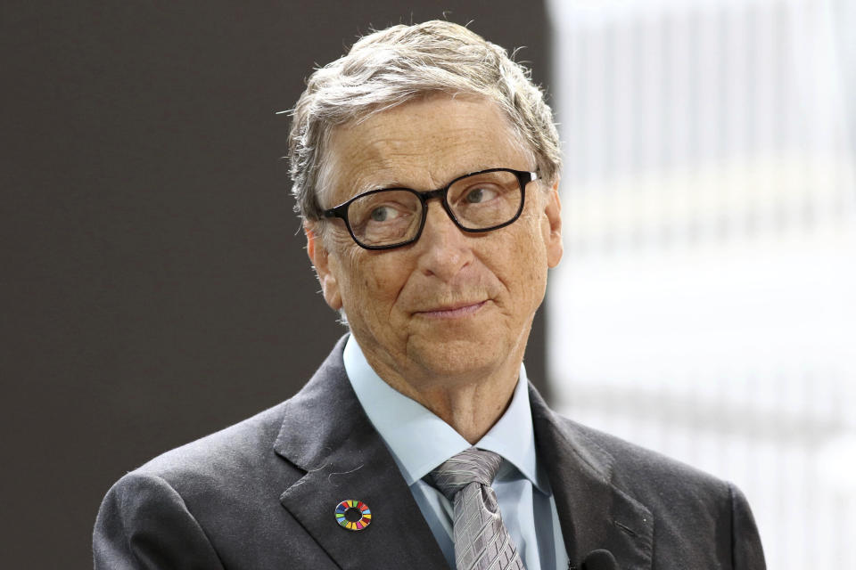 Photo by: PBG/AAD/STAR MAX/IPx 2021 2/16/21 Bill Gates says richest countries should only be eating 'synthetic' beef in order to curb climate change. STAR MAX File Photo: 9/20/17 Bill Gates at the Bill and Melinda Gates Foundation's Goalkeepers Conference 2017 at Jazz at Lincoln Center in New York City. (NYC)
