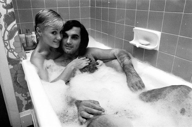 George Best and his girlfriend Angela Macdonald - James pictured at the London home of George Best,  23rd September 1976. (Photo by Kent Gavin/Mirrorpix/Getty Images) (Photo: Mirrorpix via Getty Images)