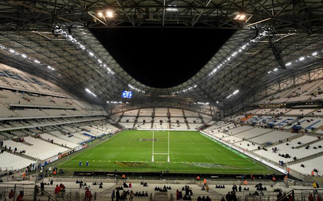 The Stade Velodrome before the Six Nations match between France and Italy in 2018 - GETTY IMAGES