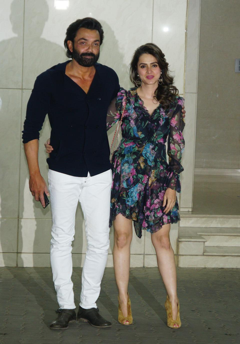 MUMBAI, INDIA - DECEMBER 26:  Bobby Deol and Tanya Deol attend the Salman Khan's  birthday celebration on December 26,2019 in Mumbai, India (Photo by Prodip Guha/Getty Images)