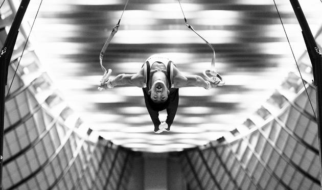 Koji Uematsu of Japan competes on the rings during day two of the Artistic Gymnastics NHK Trophy at Yoyogi National Gymnasium on May 5, 2012 in Tokyo, Japan.  (Photo by Adam Pretty/Getty Images)