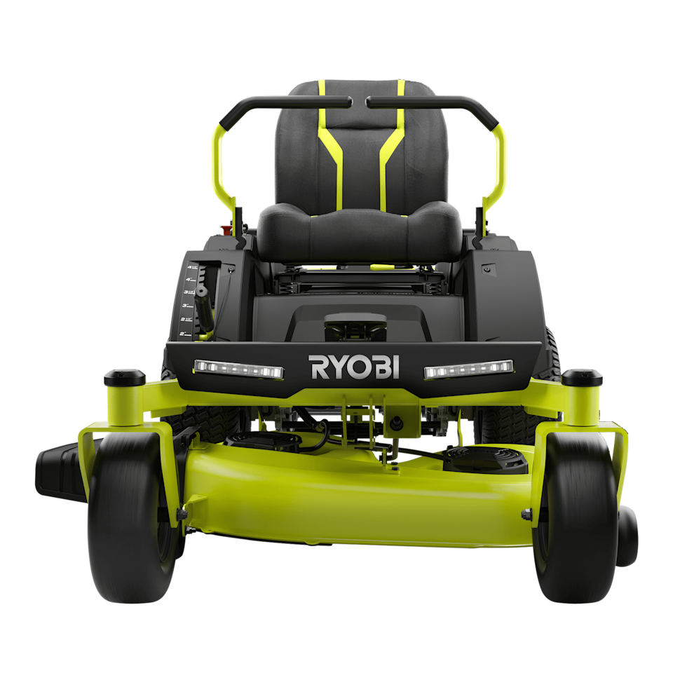 """<p><strong>RYOBI</strong></p><p>homedepot.com</p><p><strong>$3850.00</strong></p><p><a href=""""https://go.redirectingat.com?id=74968X1596630&url=https%3A%2F%2Fwww.homedepot.com%2Fp%2FRYOBI-48V-Brushless-42-in-75-Ah-Battery-Electric-Riding-Zero-Turn-Mower-and-Bagging-Kit-RY48ZTR75-1A%2F311285575&sref=https%3A%2F%2Fwww.countryliving.com%2Fgardening%2Fgarden-ideas%2Fg36728568%2Fbest-riding-lawn-mowers%2F"""" rel=""""nofollow noopener"""" target=""""_blank"""" data-ylk=""""slk:Shop Now"""" class=""""link rapid-noclick-resp"""">Shop Now</a></p><p>If you've got a bigger yard, but still want the energy efficiency and low maintenance of a battery-powered mower, this is your ride. The 100 amp battery lets you cut up to three acres on a single charge. Reviewers love how quiet it is, how easy it is to use, and the way it handles both hills and rough spots.</p>"""
