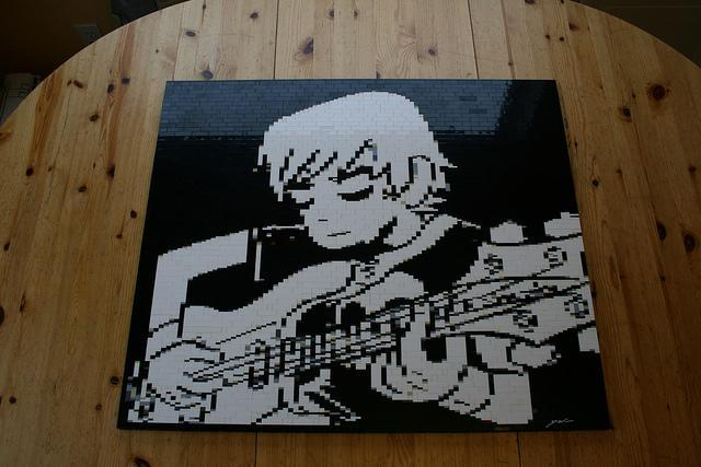 A Lego Mosaic made by Dave Ware (brickwares) for the 2012 Calgary Expo