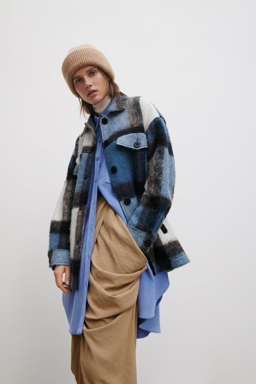<p>We love the colorway of this <span>Oversize Plaid Overshirt</span> ($90).</p>