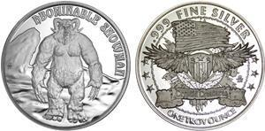 """The Yeti (aka """"The Abominable Snowman."""") Is the newest .999 pure silver, one troy ounce, collectible round by Osborne Mint – The Yeti Sighted in Cincinnati. #OsborneMint #Yeti"""