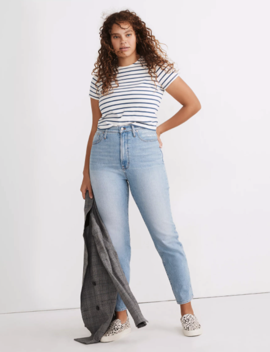"""<h2>Madewell The Curvy Perfect Vintage Jean</h2><br><em><strong>The Feel-Good Pair</strong></em><br><br>Madewell is known for its <a href=""""https://www.refinery29.com/en-us/madewell-best-selling-vintage-jean-style"""" rel=""""nofollow noopener"""" target=""""_blank"""" data-ylk=""""slk:best-selling Perfect Vintage Jean style"""" class=""""link rapid-noclick-resp"""">best-selling Perfect Vintage Jean style</a>, and this pair designed for curves is one of the most popular picks on the retailer's website. The stretch denim fabric has a retro-looking appeal with that broken-in feel that just can't be beat. <br><br><strong>The Hype: </strong>4.8 out of 5 stars; 75 reviews on Madewell.com<br><br><strong>What They're Saying</strong>: """"This is the first pair of jeans that i've owned that make me feel good... Im about to turn 23 which means I am metamorphosing from teenagehood to womanhood. This is the first pair of jeans I have bought that fit without a belt and are comfy in all areas without compromising thigh, waist, and hip fits. I feel beautiful in these, and have not received the same quality in brands that cost $100 more than these. Also, these are not as heavy as the straight fitting vintage jeans they offer."""" — SHELBY3, Madewell.com reviewer<br><br><em>Shop</em> <em><strong><a href=""""https://www.madewell.com/the-curvy-perfect-vintage-jean-in-fiore-wash-MC594.html"""" rel=""""nofollow noopener"""" target=""""_blank"""" data-ylk=""""slk:Madewell.com"""" class=""""link rapid-noclick-resp"""">Madewell.com</a></strong></em><br><br><strong>Madewell</strong> The Curvy Perfect Vintage Jean, $, available at <a href=""""https://go.skimresources.com/?id=30283X879131&url=https%3A%2F%2Fwww.madewell.com%2Fthe-curvy-perfect-vintage-jean-in-fiore-wash-MC594.html"""" rel=""""nofollow noopener"""" target=""""_blank"""" data-ylk=""""slk:Madewell"""" class=""""link rapid-noclick-resp"""">Madewell</a>"""