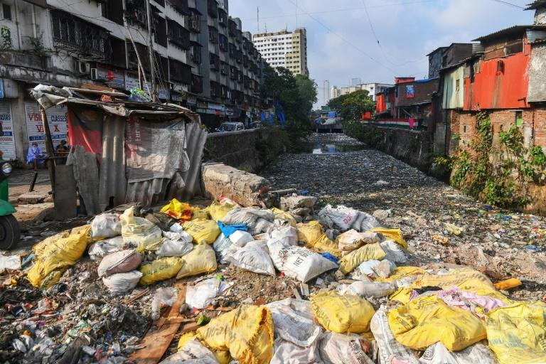 Sanitation is dire in the neighbourhood, whose residents have long criticised the government for failing to improve infrastructure (AFP Photo/INDRANIL MUKHERJEE)