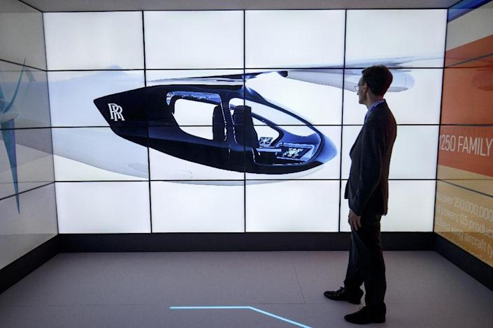 The Rolls-Royce EVTOL plane will seat four or five people, with a flying range of 500 miles (805 kilometres) and a top speed of 200 miles per hour (AFP Photo/Tolga AKMEN)