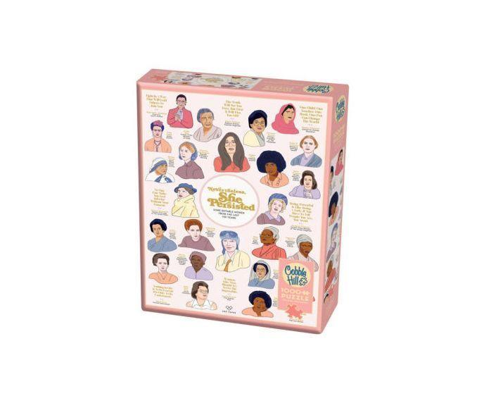 """<p><strong>Cobble Hill Puzzle Co.</strong></p><p>barnesandnoble.com</p><p><strong>$17.95</strong></p><p><a href=""""https://go.redirectingat.com?id=74968X1596630&url=https%3A%2F%2Fwww.barnesandnoble.com%2Fw%2Ftoys-games-cobble-hill-nevertheless-she-persisted-1000-piece-jigsaw-puzzle%2F34994986&sref=https%3A%2F%2Fwww.prevention.com%2Flife%2Fg35227742%2Fgalentines-day-gifts%2F"""" rel=""""nofollow noopener"""" target=""""_blank"""" data-ylk=""""slk:SHOP NOW"""" class=""""link rapid-noclick-resp"""">SHOP NOW</a></p><p>Help her see her full potential with this 1,000-piece puzzle highlighting inspirational quotes from badass women throughout history. It could be just what she needs to keep pursuing her dreams.</p>"""