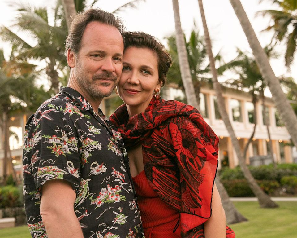 """<p><strong>Location:</strong> Río Grande, Puerto Rico</p> <p>Maggie Gyllenhaal and Peter Sarsgaard were on hand to celebrate the grand reopening of the <a href=""""https://www.marriott.com/hotels/travel/sjuxr-the-st-regis-bahia-beach-resort-puerto-rico/"""" rel=""""nofollow noopener"""" target=""""_blank"""" data-ylk=""""slk:luxury property"""" class=""""link rapid-noclick-resp"""">luxury property</a> following <a href=""""https://people.com/home/hurricane-maria-how-to-help-one-year-anniversary/"""" rel=""""nofollow noopener"""" target=""""_blank"""" data-ylk=""""slk:Hurricane Maria"""" class=""""link rapid-noclick-resp"""">Hurricane Maria</a> in fall 2017. Guests had the chance to explore El Yunque National Forest and participate in volunteer opportunities to help those impacted by the storm, as well as indulge in luxuries like a Moet champagne vending machine on site.</p>"""