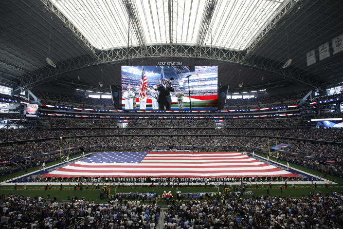 A new song is reportedly coming to NFL pregame ceremonies. (AP Photo/Roger Steinman)
