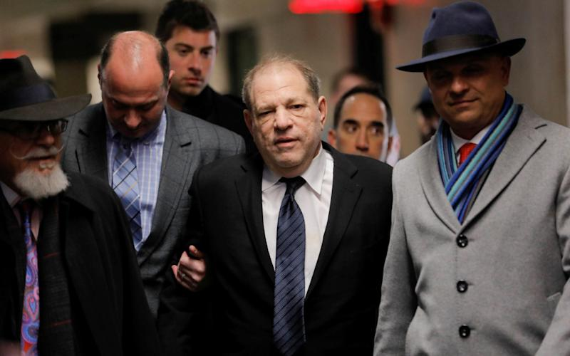Harvey Weinstein arriving in court on Wednesday, to hear opening statements from the prosecution and defence - REUTERS