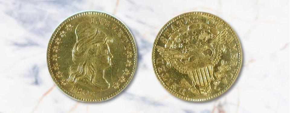 1802 P Liberty Cap, Head Facing Right 1802_One Two and a Half Dollar