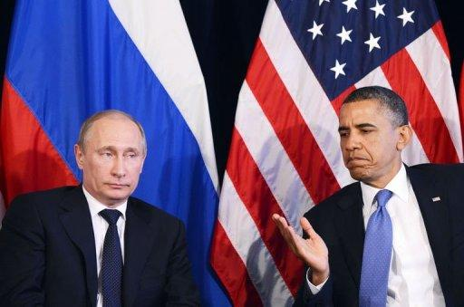 "Obama said he and Putin agreed on the need for a ""political process"" to halt the Syrian conflict"