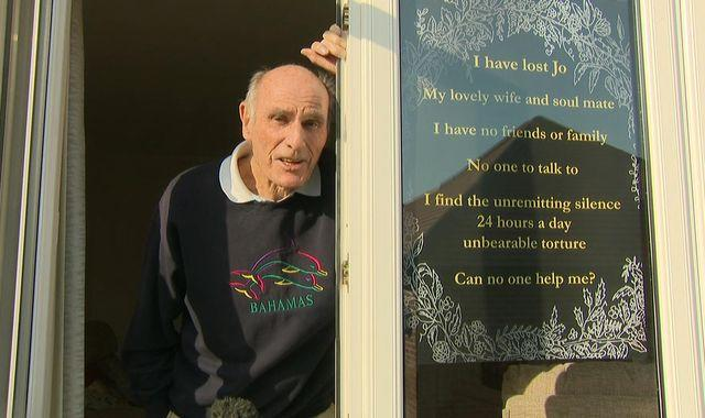 Lonely pensioner who put poster in window asking for friends gets 'tsunami' of messages