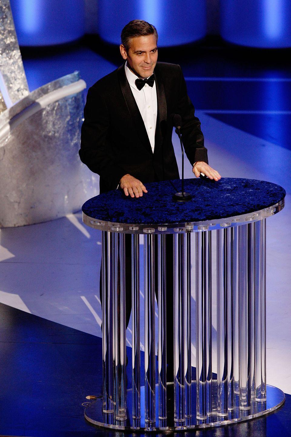 <p>Clooney presents at the 80th Academy Awards on February 24, 2008.</p>
