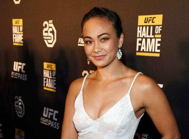 PHOTO: Mixed martial artist Michelle Waterson arrives at the UFC Hall of Fame's class of 2018 induction ceremony at Palms Casino Resort on July 5, 2018, in Las Vegas. (Ethan Miller/Getty Images, FILE)