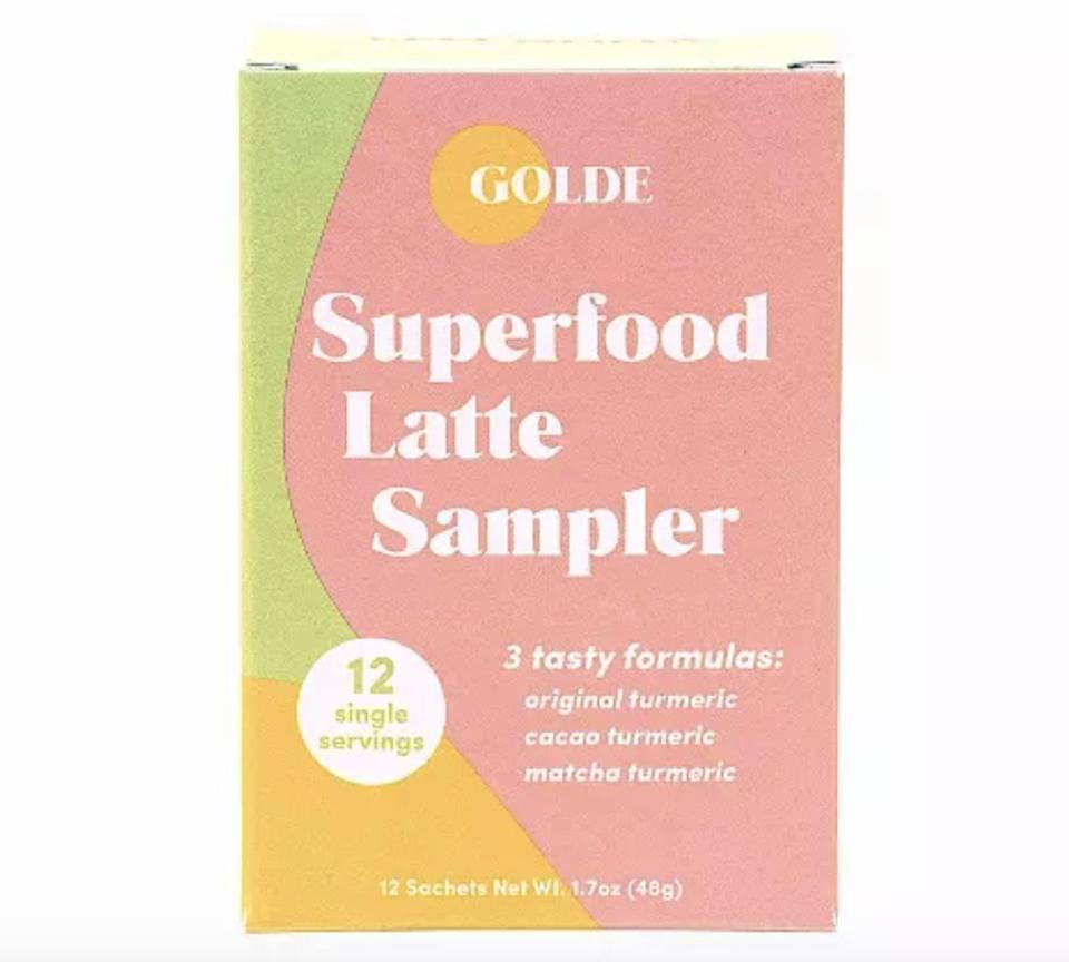 <p>If he wants to improve his wellness, he might enjoy the yummy <span>Golde Superfood Latte Sampler</span> ($22). He'll look forward to making his morning lattes with this superfood booster.</p>