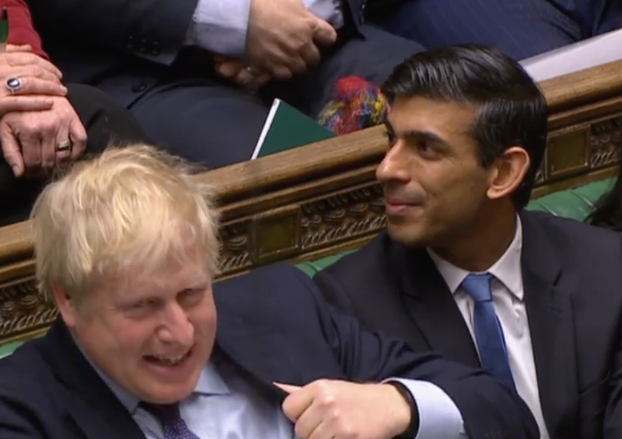 Rishi Sunak reacts to his predecessor's speech about Dominic Cummings (Parliamentlive.tv)