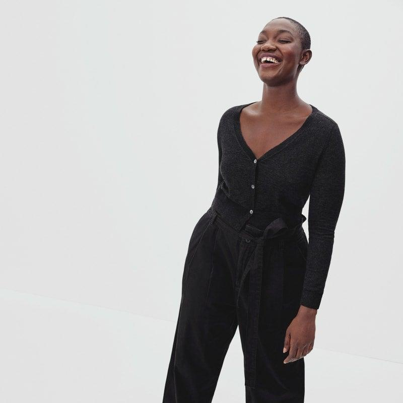 """<h2>The Cropped Caridgan</h2><br>Think your classic cardigan, minus a few inches. <br><br><strong>Everlane</strong> The Featherweight Alpaca Cardigan, $, available at <a href=""""https://go.skimresources.com/?id=30283X879131&url=https%3A%2F%2Fwww.everlane.com%2Fproducts%2Fwomens-featherweight-alpaca-cardigan-hthr-black"""" rel=""""nofollow noopener"""" target=""""_blank"""" data-ylk=""""slk:Everlane"""" class=""""link rapid-noclick-resp"""">Everlane</a>"""