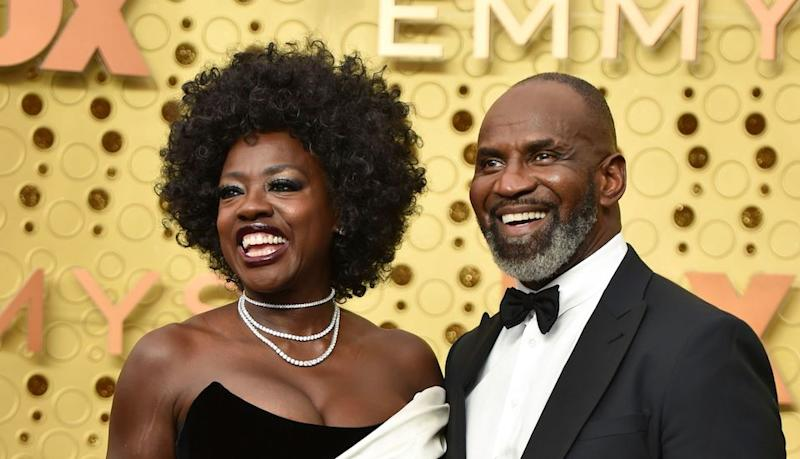 Viola Davis' Emmys Dress Is the Sartorial Version of a Black and White Cookie (and Just as Delicious)