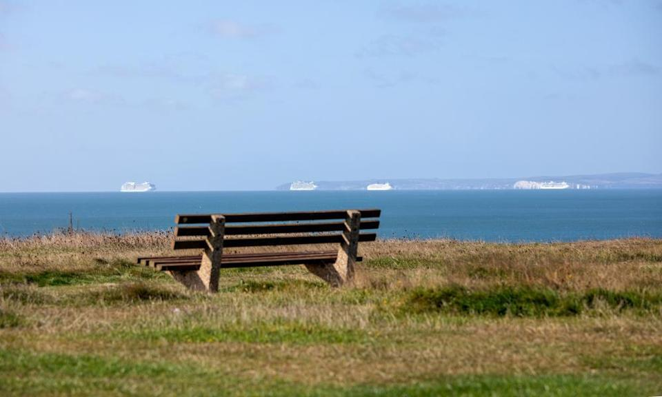 Bench with sea view, Barton on Sea.