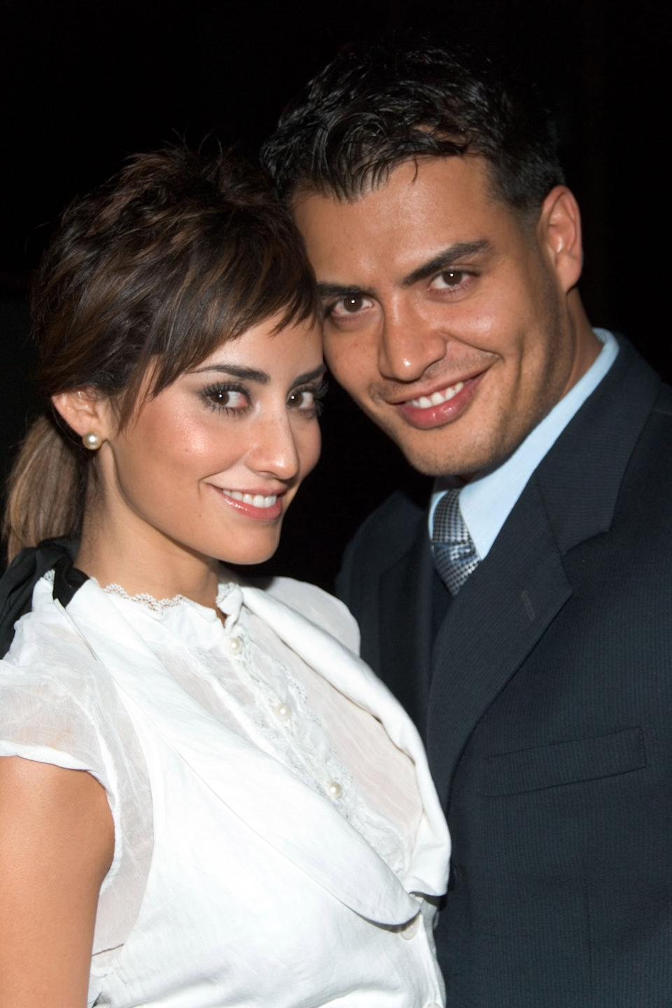 Paola Nuñez and Andres Palacios during TV Azteca 2006 - 2007 Upfront at Museum of Natural History in New York, NY, United States. (Photo by Lawrence Lucier/FilmMagic)
