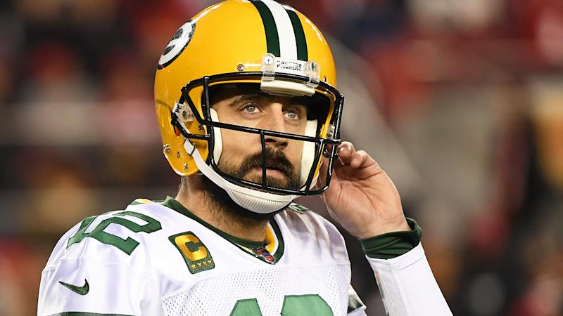 Aaron Rodgers has detailed how he was able to fly out of Peru just 15 minutes before the South American nation closed their borders due to the coronavirus pandemic. (Photo by Harry How/Getty Images)