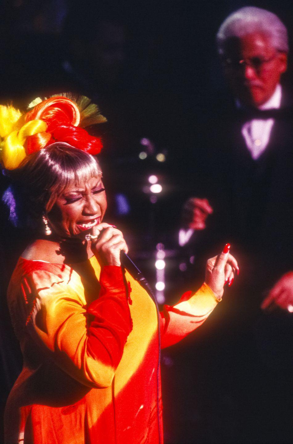 """<p>Cruz signed with Fania Label and collaborated with the record label owner, Johnny Pacheco. The resulting album was called <em>Celia & Johnny </em>and included the single, """"Quimbara"""".<br></p>"""