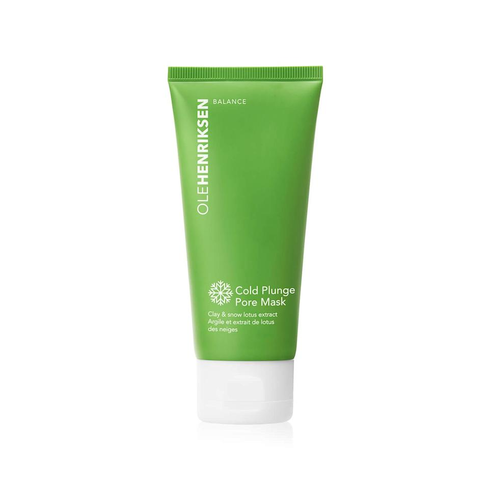 """<h3>Ole Henriksen Cold Plunge Pore Mask</h3> <br>Another favorite mask for max spa vibes (even in my tiny Brooklyn apartment bathroom) is Ole Henriksen's creamy, clarifying mask, which has an immediate cooling effect when applied onto skin with fingers. The teal color is also just fun!<br><br><strong>Ole Henriksen</strong> Cold Plunge Pore Mask, $, available at <a href=""""https://go.skimresources.com/?id=30283X879131&url=https%3A%2F%2Fwww.olehenriksen.com%2Fshop-skincare%2Fcold-plunge-pore-mask%2FOH10014.html"""" rel=""""nofollow noopener"""" target=""""_blank"""" data-ylk=""""slk:Ole Henriksen"""" class=""""link rapid-noclick-resp"""">Ole Henriksen</a><br>"""