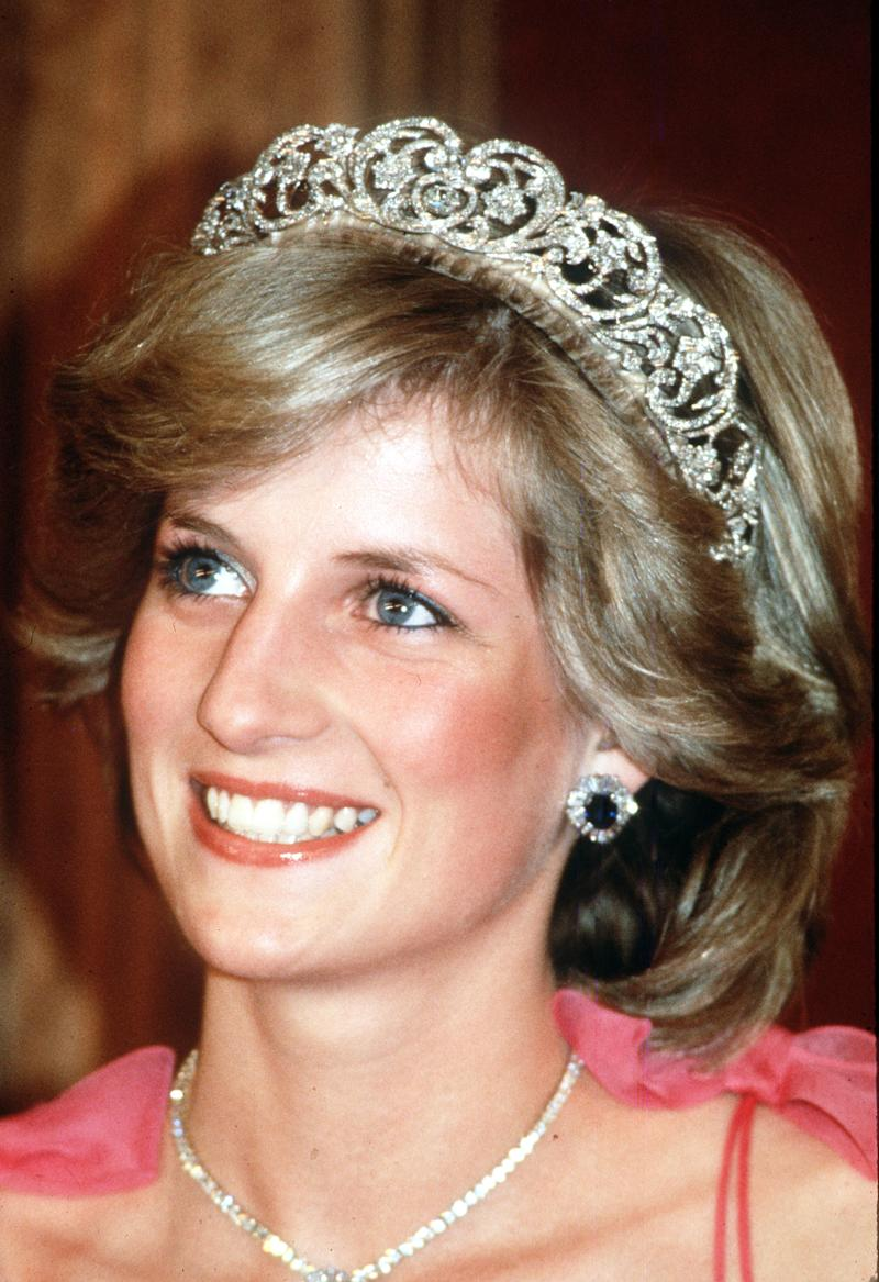 Princess Diana pictured in tiara and pink gown on 22nd anniversary of her death
